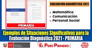 IMPORTANTE: Ejemplos de Situaciones Significativas para la Evaluación Diagnóstica 2021 para Nivel PRIMARIA [Descarga aquí]