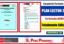 IMPORTANTE: Excelente Formato de PLAN LECTOR 2021 en Formato WORD Totalmente Editable [Descarga aquí]