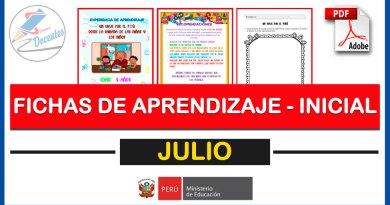 Excelentes FICHAS DE APRENDIZAJE para Nivel PRIMARIA para el mes de JULIO [Descarga aquí]