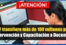 ATENCIÓN: MEF transfiere más de 100 millones para Intervenciones Pedagógicas y Capacitaciones a Docentes [Conócelo aquí]