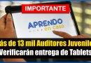 IMPORTANTE: Más de 13 mil Auditores Juveniles Verificarán Entrega de Tablets [Conócelo aquí]