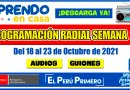APRENDO EN CASA: PROGRAMACIÓN RADIAL SEMANA 27 [Del 18 al 23 de Octubre] Audios y Guiones [Descarga aquí][Word – Mp3]