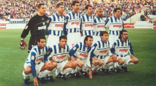 Once del Leganés. Arriba: Rubio, Fede Bahón, Clotet, Sívori, Darmón, Lambea. Abajo: Óscar, Miguel Ángel, Iván Pérez, Pardo y Carcedo.