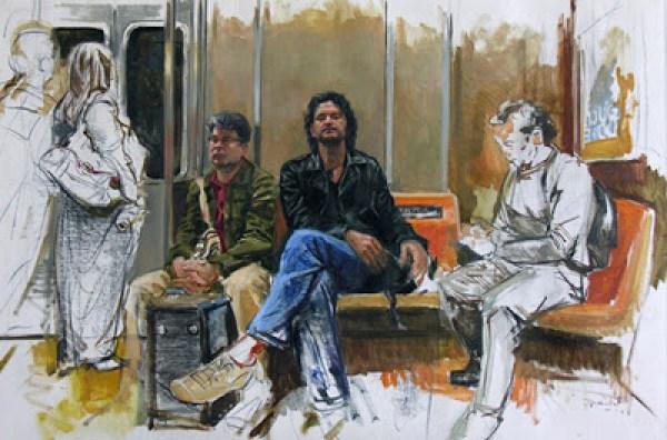 """""""Los amigos del subway"""", de Dario Ortíz."""