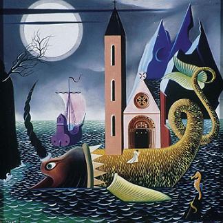 El mar según Urbano Lugris, quizá el pintor gallego que mejor ha sabido narrarnos todas sus profundidades.