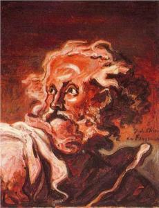 """""""Cabeza de anciano"""". de Giorgio de Chirico"""