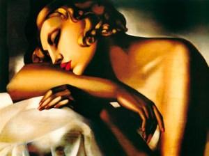 """""""la durmiente"""", de Tamara de Lempicka"""
