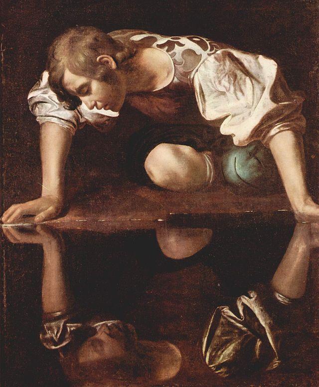 """""""Narciso en la fuente"""", deCaravaggio"""