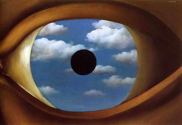 """""""El falso espejo"""", de Magritte."""