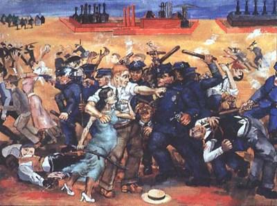 """""""Estoy en las barricadas"""", de Philip Evergood"""