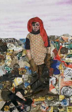 """""""Juanito Laguna"""", un personaje que el pintor argentino Antonio Berni usó reiteradamente en sus obras para retratar la miseria."""