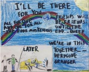 (Dibujo creado por los niños del Colegio San Javier)