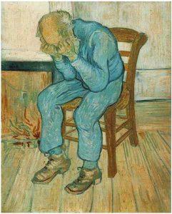 """""""Anciano en pena"""". de Van Gogh."""