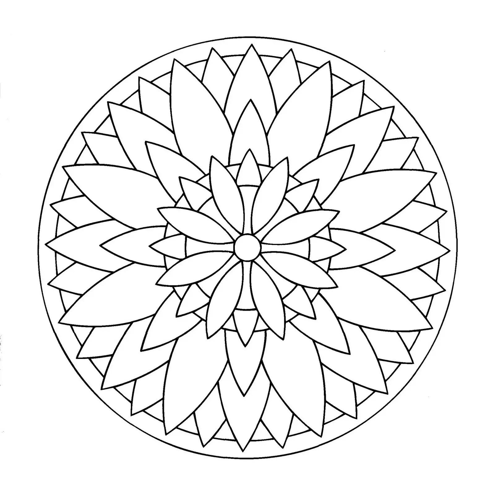 Como Dibujar Mandalas Faciles Para Ninos