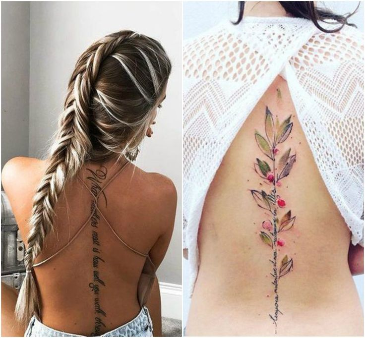 Tatuajes En La Espalda Baja Letras