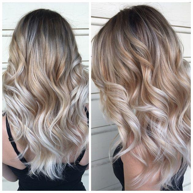 Iluminaciones en el cabello rubio cenizo  Hermosos peinados