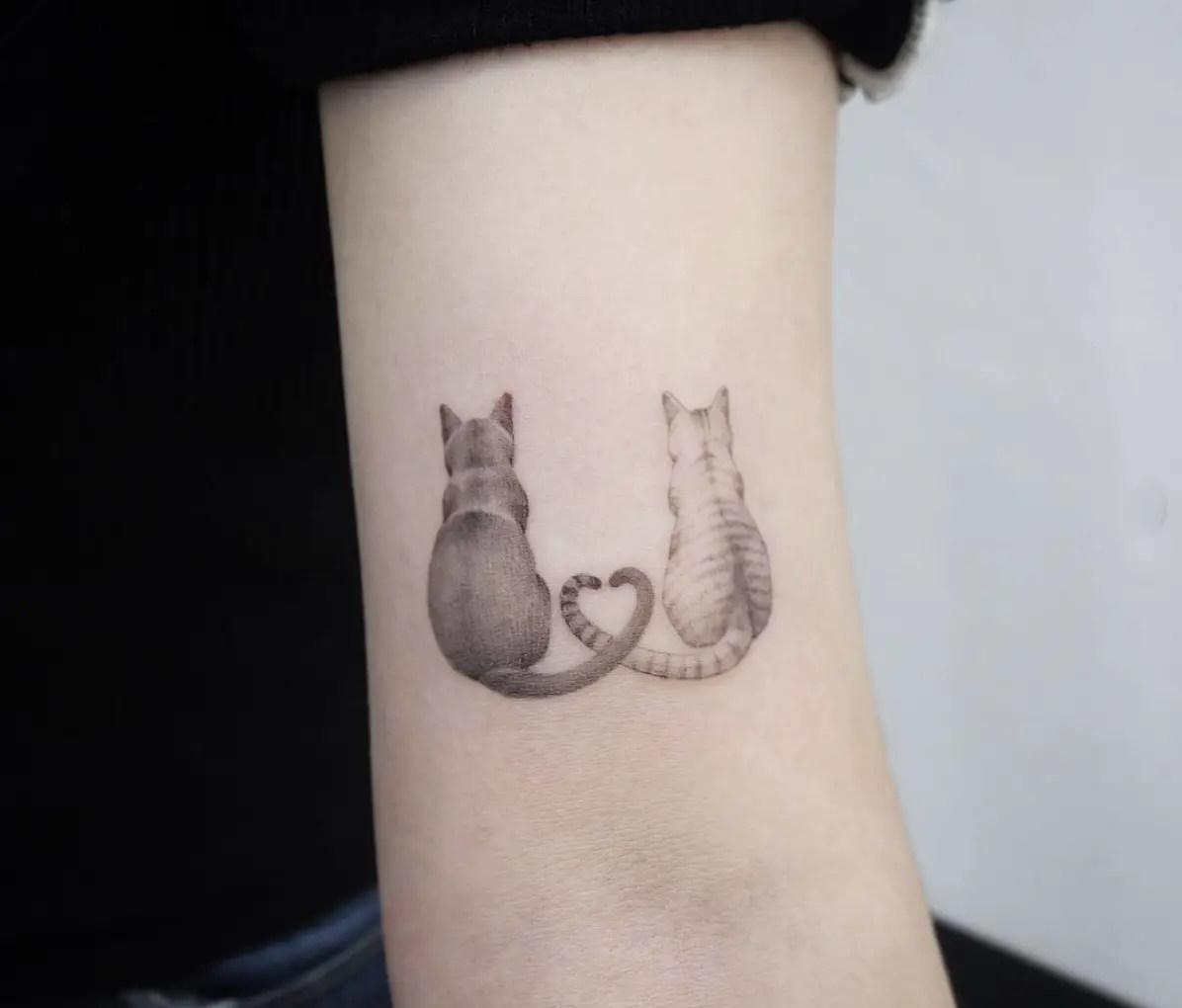 33 Ideas De Tatuajes De Gatos Para Mujeres Místicas Y Libres