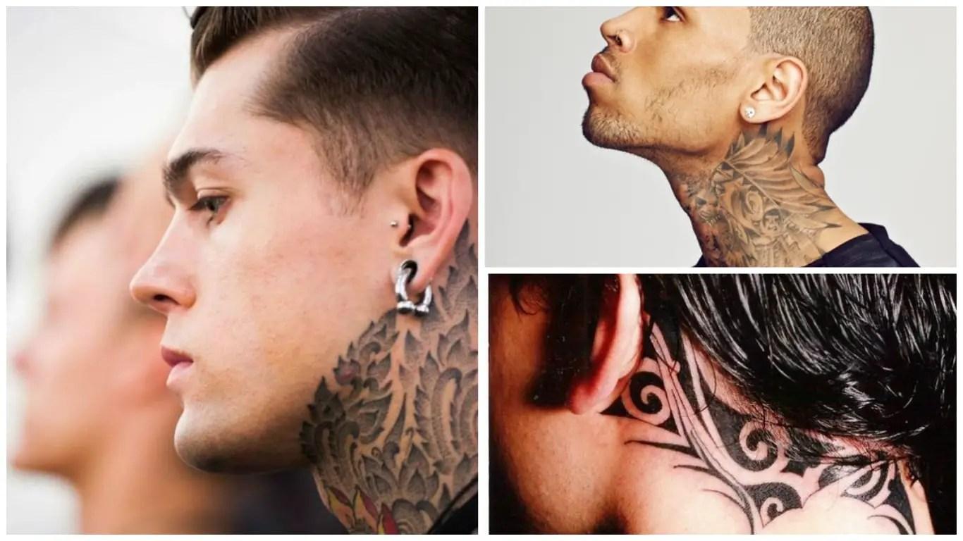 Tatuajes En El Cuello Para Hombres 42 Ideas Sensuales Y Atrevidas