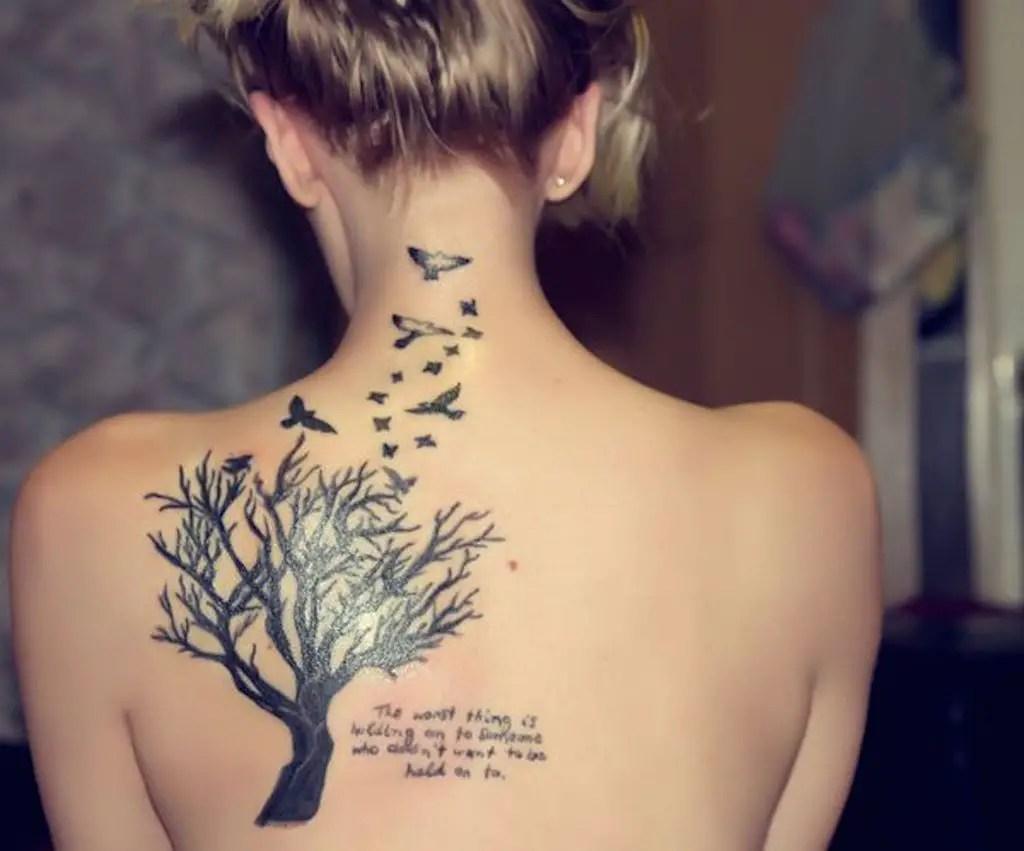 30 Tatuajes Para Mujer En La Espalda Sensuales únicos Y Con Un