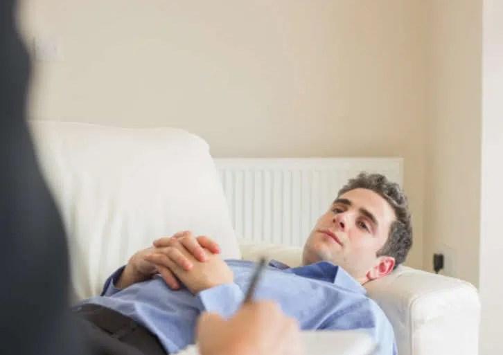 paciente en sesion de psicoterapia