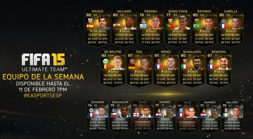 equipo de la semana de FIFA_15_Ultimate Team_4-11_Feb