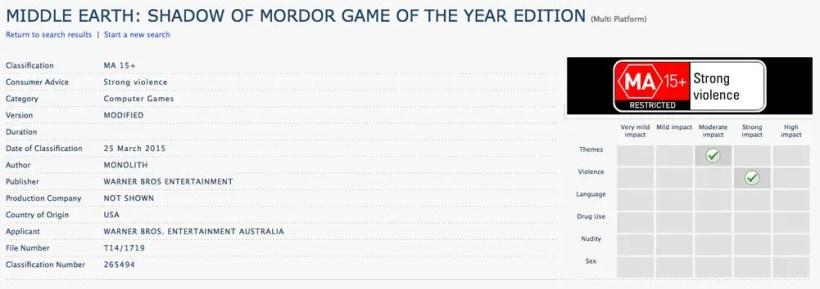 edición Juego del año de La Tierra Media: Sombras de Mordor