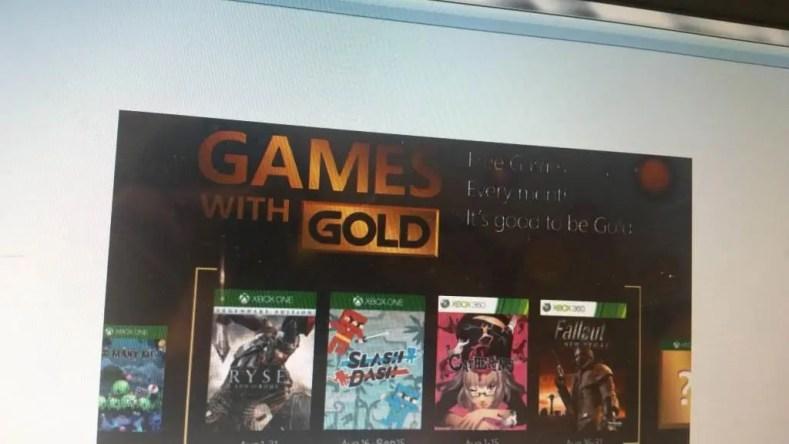 filtrados los games with gold de agosto para Xbox