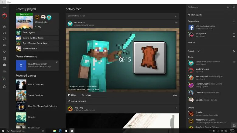 App_Xbox_Windows_Facebook