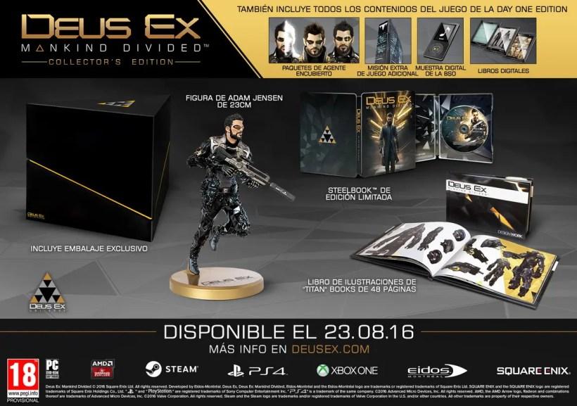Deus Ex Mankind Divided edición coleccionista
