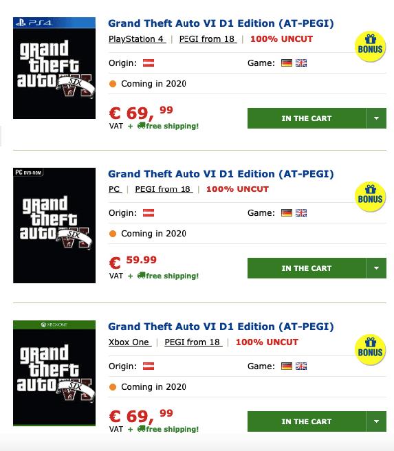 O lançamento do GTA VI vazou junto com a edição D1 para Xbox One 2