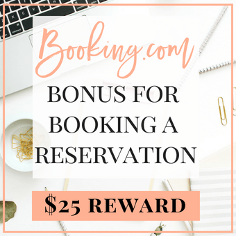Booking.com $25 reward for booking