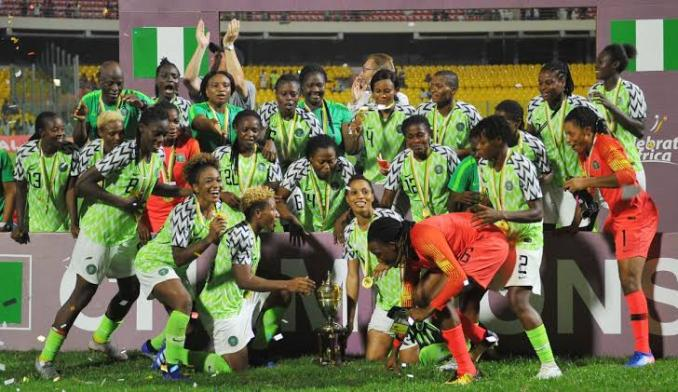 Super Falcons stage sit-in protest in France, as NFF denies owing them.