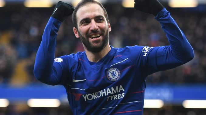 Optimized Gonzalo Higuain reunites with Sarri at as Chelsea refuses to extend loan