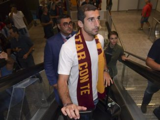 Henrikh Mkhitaryan in Italy undergoing medicals to join Roma on loan