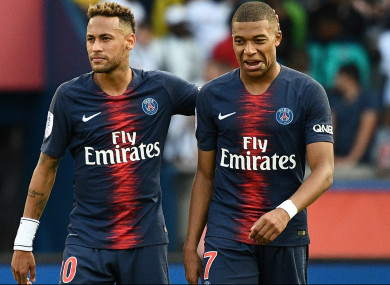 Neymar Clear doubts on competition between him and Mbappe
