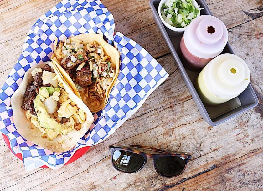 New to Austin? Here's where to eat! // Tyson's tacos in Austin TX for breakfast tacos!