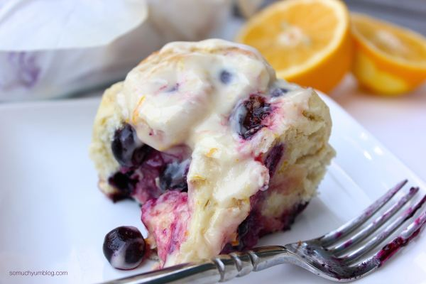 Vegan Lemon Blueberry Sweet Rolls | So Much Yum