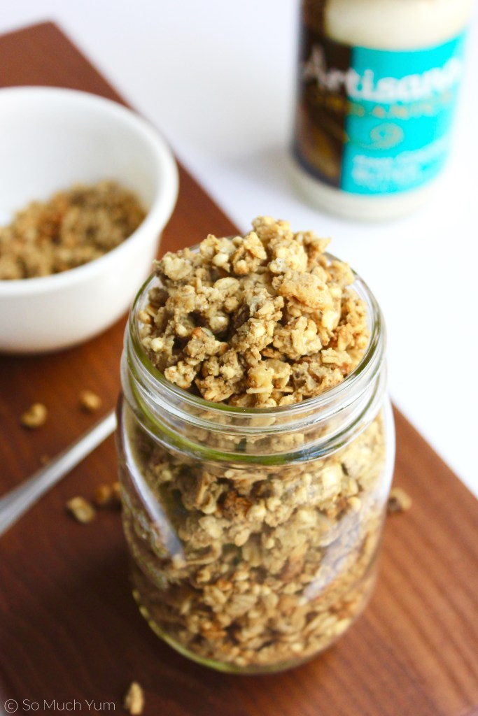 Ginger Coconut Butter Granola (vegan + gf) | So Much Yum