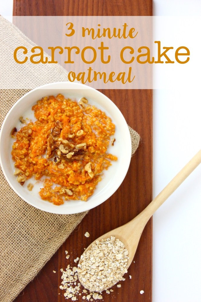 3 Minute Carrot Cake Oatmeal (vegan + GF) | So Much Yum