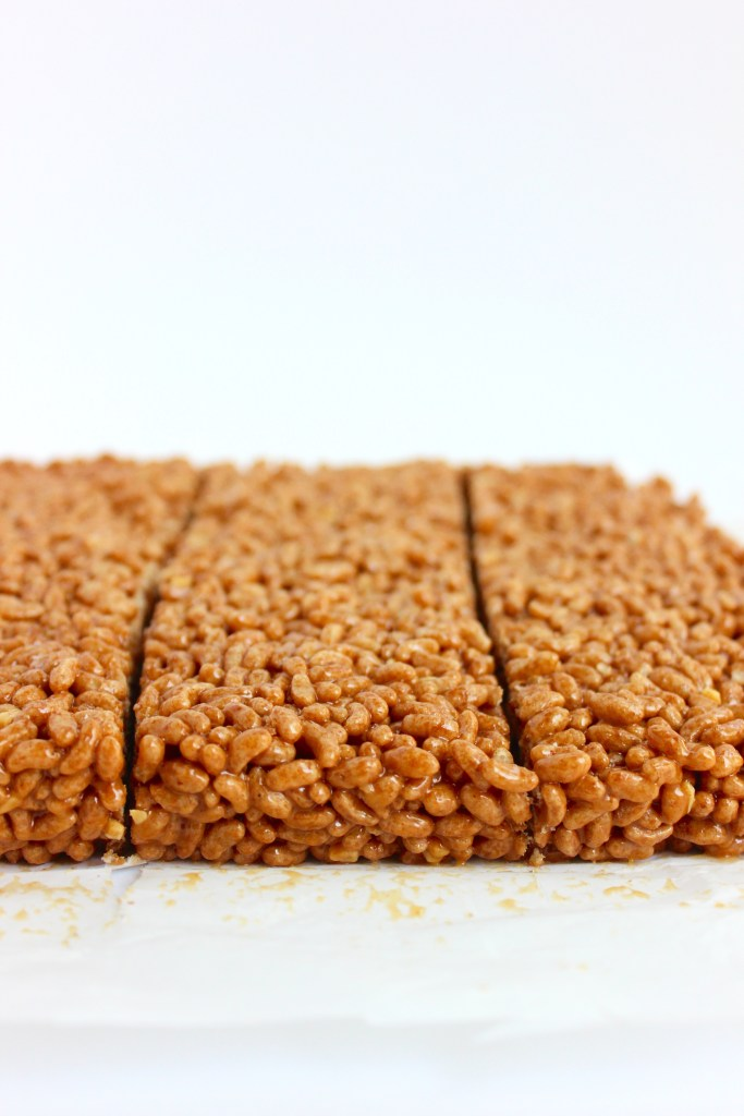 Vegan Peanut Butter Chocolate Rice Crispy Treats (gluten-free) | So Much Yum