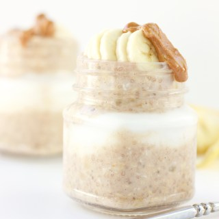 Banana Bread Overnight Oats (vegan + gluten-free)