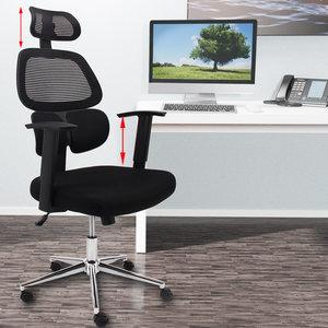 Ergonomische bureaustoel stoel zwart  Somultishop