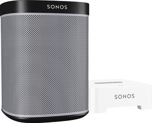 L'enceinte Sonos Play 1 et son bridge. Jusqu'au 31 décembre, le Sonos Bridge est offert !