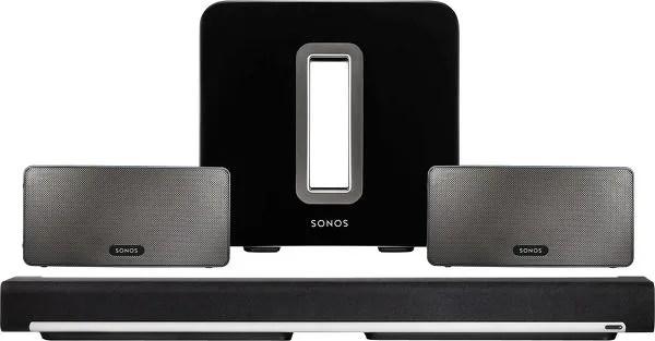 SONOS PLAYBAR, PLAY:3 et le caisson de basses Sonos SUB
