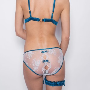 Lila Soft-Cup Bra, Diamond Knicker & Garter by Sonata London