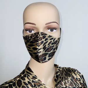 Leopard Satin Mask