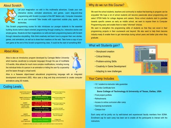 Csi Sponsored Summer Camp Creative Programming
