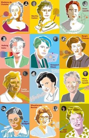 Doce mujeres iluminadas por la luz