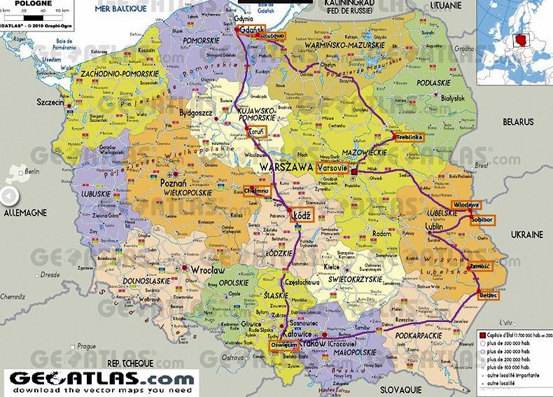 Carte De La Pologne Arts Et Voyages