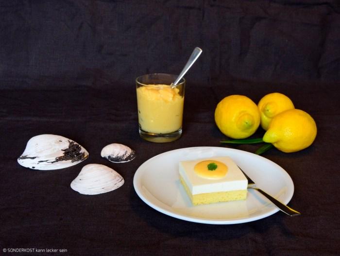 zitronige Quarkschnitten mit Lemoncurd